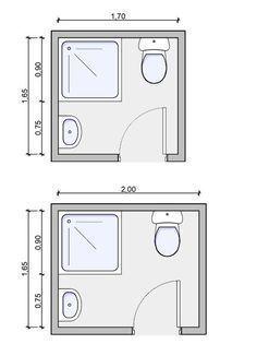 Image result for baños pequeños planos medidas #casasmodernaschicas