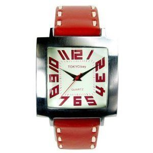 Tokyo Bay Watch Tram Unisex Red Retro Tokyo Bay. $89.00. Dial color coordinates with band. Heavy top stitch detail on band. Bold colorful statement watch. Casual and fun color contrast. Smooth matt leather is ultra soft