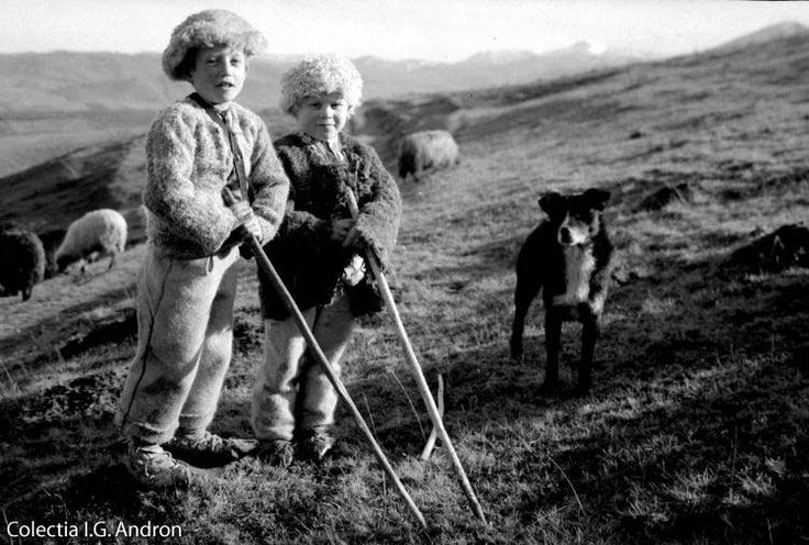 Ciobănaşi în vârful Pietrişului Racşa - 1935
