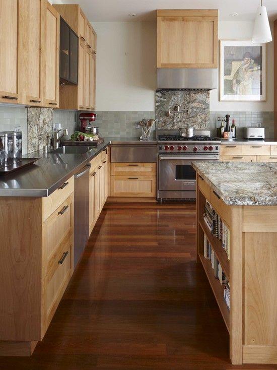 Best Kitchen Cabinetfloor Combos Images On Pinterest Kitchen - Kitchen cabinets and flooring combinations