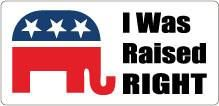 Raised Right Political Bumper Sticker