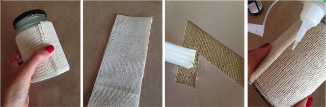 DIY Reciclamos tarros de cristal para hacer meseros de boda