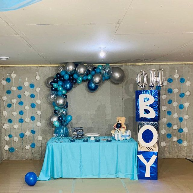 Blue Silver White And Mustache Birthday Party Ideas Photo 7 Of 19 Catch My Party Boy Baby Shower Themes Mustache Baby Shower Boy Shower Themes