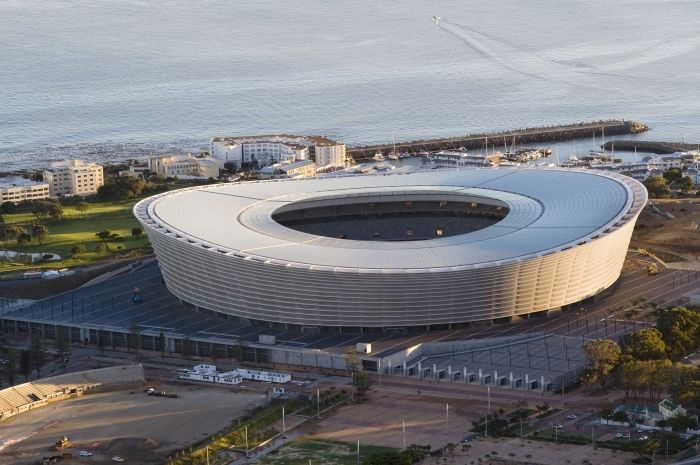 The Green Point Stadium situated in Cape Town is one of the many man-made attractions that were built for the 2010 World Cup in South Africa holding a large number of tourists from different parts of the world.