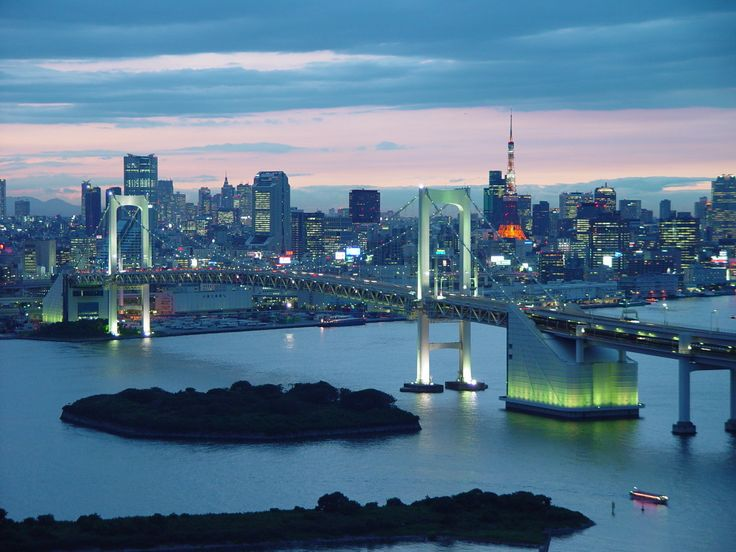Tokyo, Japan. The rainbow bridge.  Had the most amazing sushi with this as my view - a dinner I will never forget!