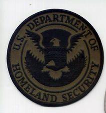 #2 OLD HOMELAND DHS OD BLACK AGENCY FEDERAL CBP DHS ICE FBI SWAT POLICE PATCH
