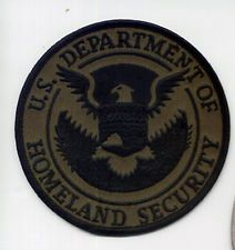 #2 OLD HOMELAND DHS OD BLACK AGENCY FEDERAL CBP DHS ICE FBI SWAT POLICE PATCH
