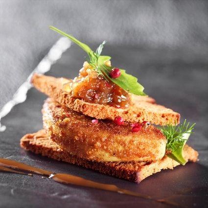 Escalope de foie gras à la poudre de pain d'épices