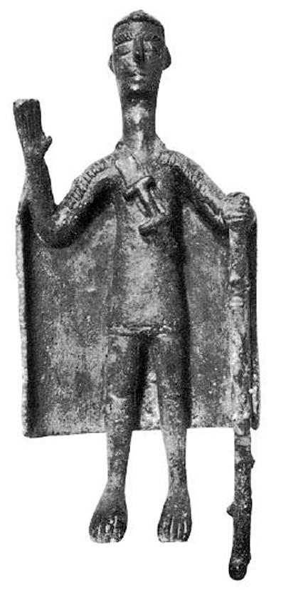 Sardinia, bronze sculpture representing a chief