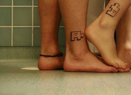 I'm not into tattoos but the way they placed these is cute