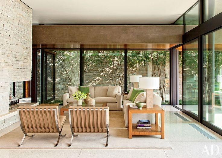 Contemporary Living Room By Boehm Design Associates And Marmol Radziner In  Beverly Hills, California · Top Interior DesignersContemporary ...
