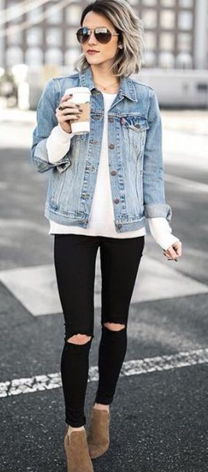 153bccf2cd 20+ cute denim jacket outfit ideas 2018 for ladies  denim  jeans  jackets   fashionoutfits  outfitpost  outfitinspiration  look  lookbook   lookoftheday ...