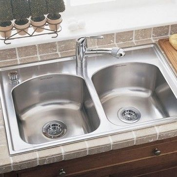 found it at wayfair american standard culinaire x self rimming top mount double bowl kitchen sink - American Kitchen Sink