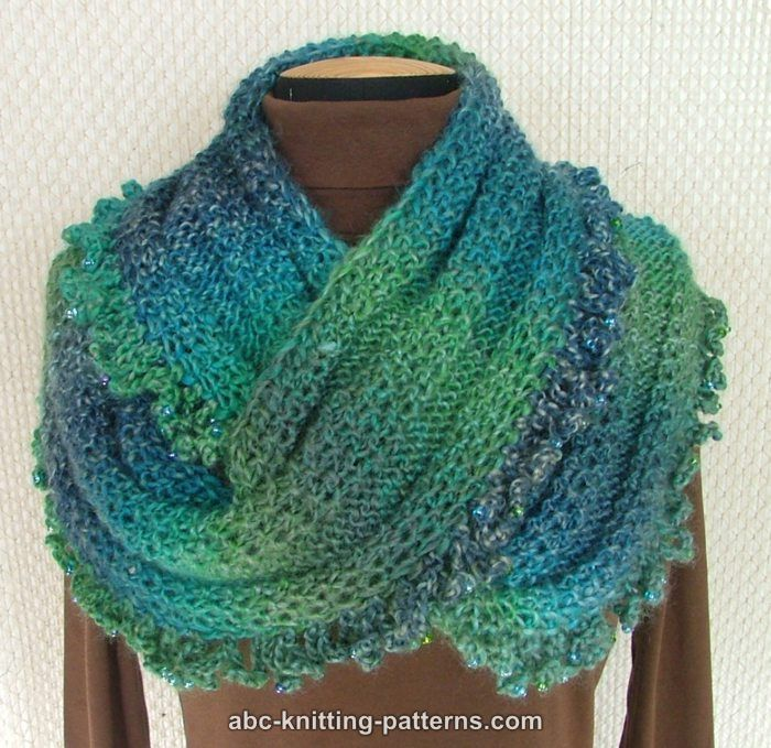 Free Knitting Patterns For Scarves With Beads : Free Pattern: Gypsy Cowl with Bead Ruffle. Knit - Shawls Pinterest Beau...