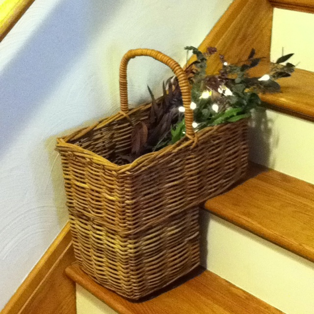 My Stair Basket Decoration Idea