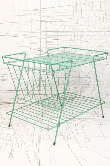 Green Magazine Rack