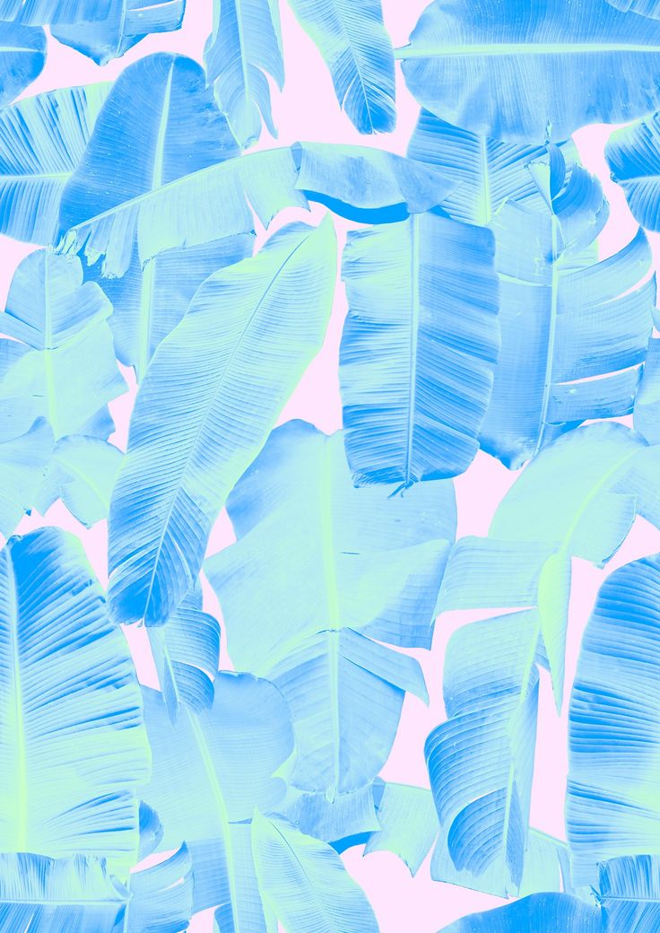 Banana leaf print by Rhianna Ellington. #tropical
