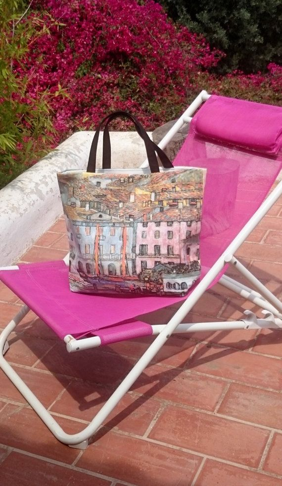 Beach totes Gustav Klimt printed canvas bag handbag by SUNSUELLE