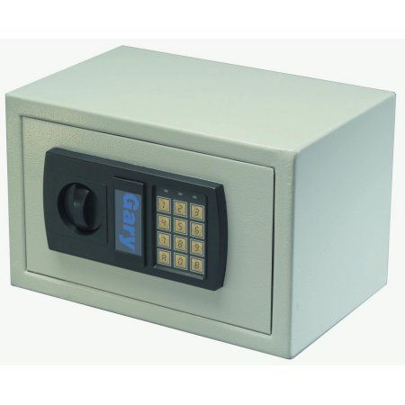 FireKing 0.3 cu. ft. Personal Safe with Digital Lock, HS1207 Light Gray