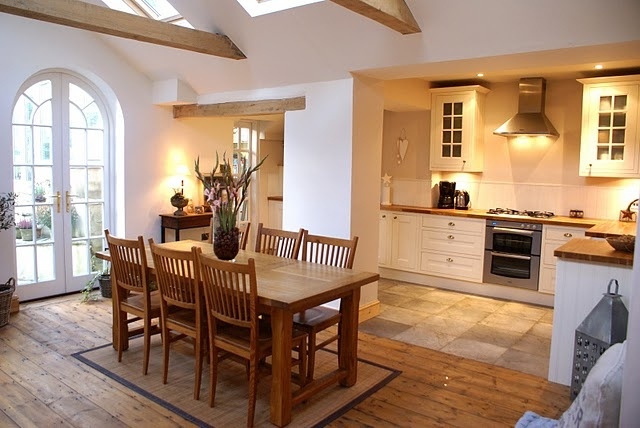 love the natural light and all the wood in the kitchen