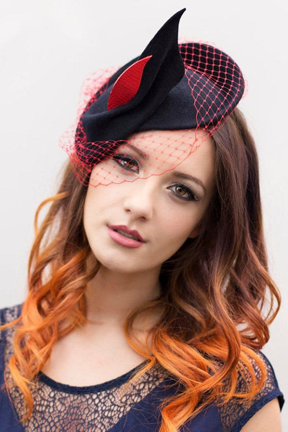Wedding Hat Women Hats Felt Vintage Style by MaggieMowbrayHats