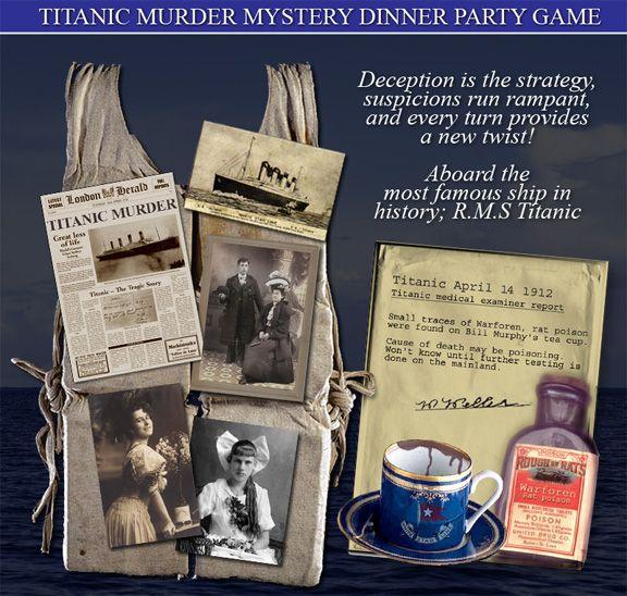 Best Murder Mystery Dinner Free: 48 Best Titanic Themed Party Images On Pinterest