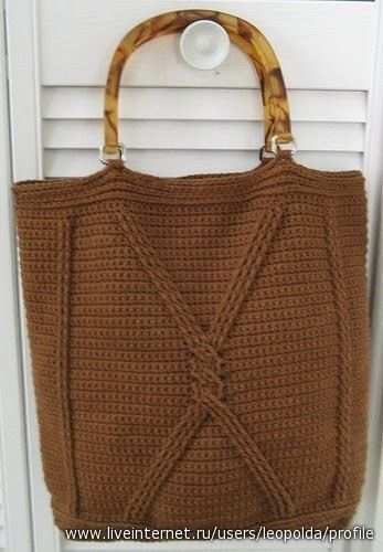 Punto de repeticiòn en crochet Un rectangulo de 30 por 50 centìmetros Material : Lana semi gruesa         Asas de madera    ...