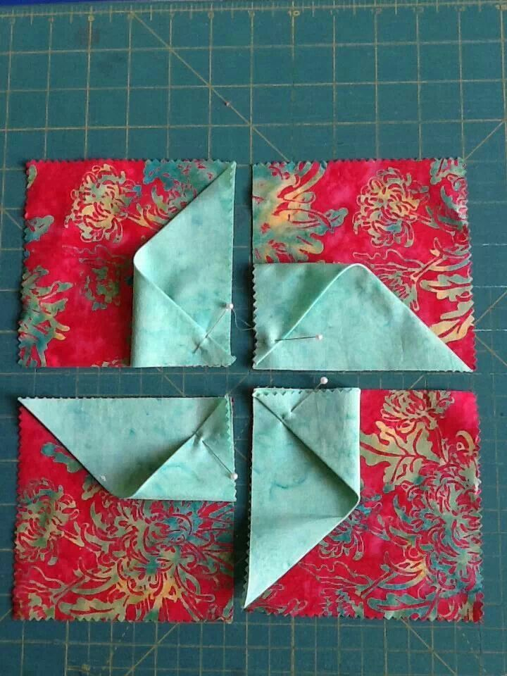 KAH says: the link doesn't go anywhere, but you can easily see the concept in the picture. 3D pinwheel block.