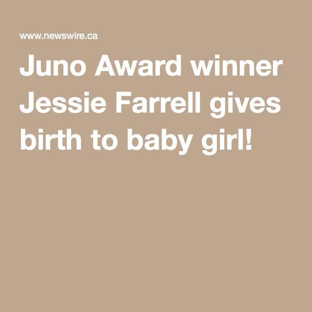 Juno Award winner Jessie Farrell gives birth to baby girl!