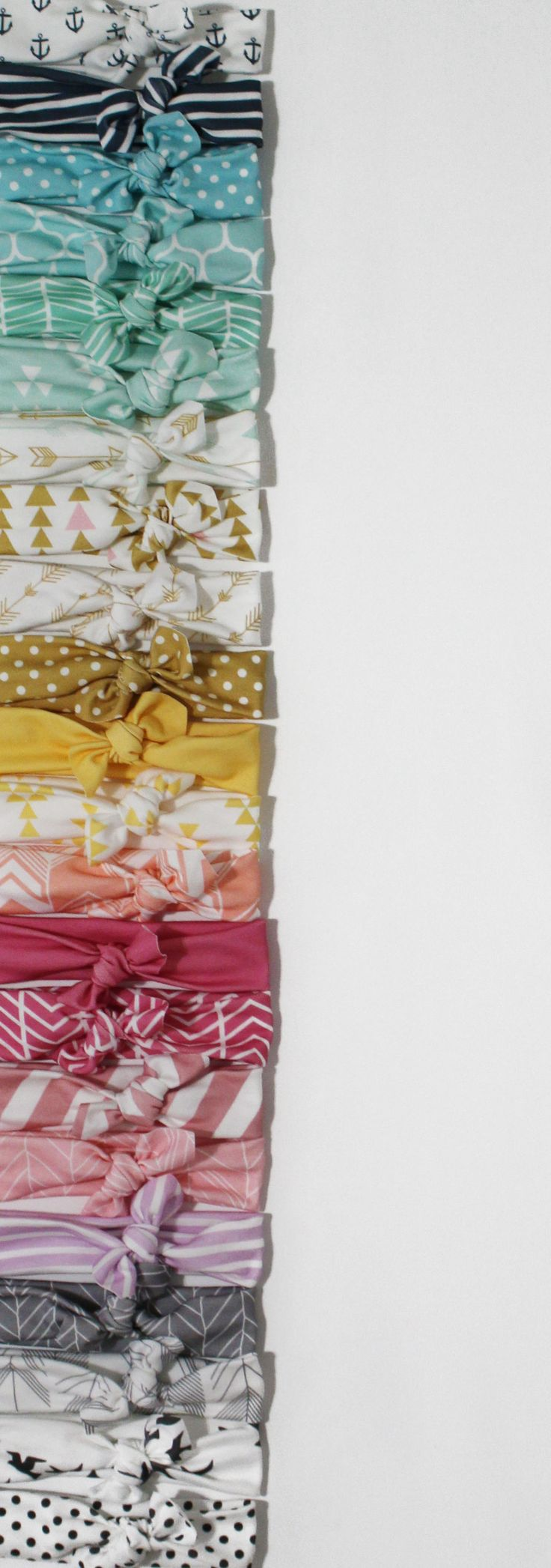 TONS of headband styles in every color! Organic cotton knotted headbands // turban style head wraps // toddler headbands// baby headbands // baby shower gift