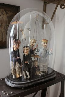 KCo. glass cloche with dolls