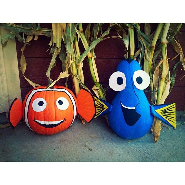 180 best images about finding dory halloween on pinterest - Outstanding kid halloween decorating design idea using scooby doo pumpkin carving ...