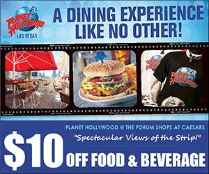 Dining Discounts for Planet Hollywood in Las Vegas! Save with FREE travel discount coupons from DestinationCoupons.com!