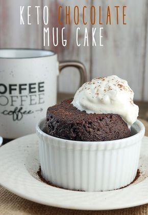 A decadent dessert that's made in under 5 minutes! Grab yourself a super easy #keto chocolate mug cake from http://www.ruled.me/