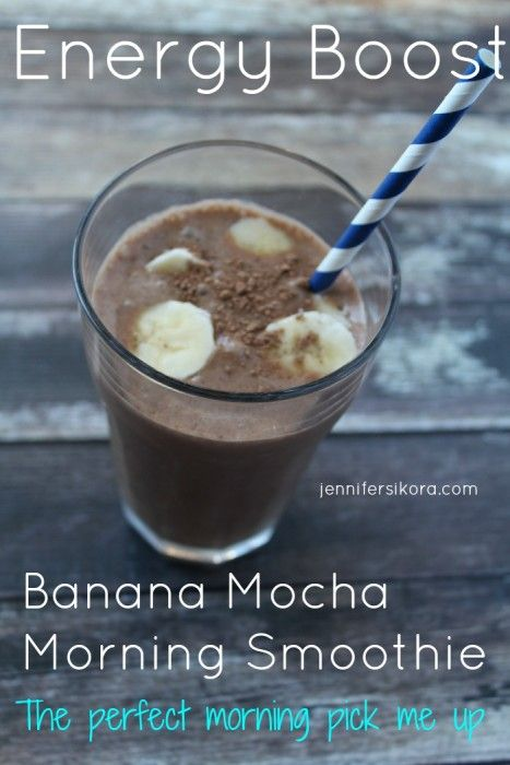 Spring Clean Your Health With This Delicious Banana Mocha Smoothie - Jen's Journey