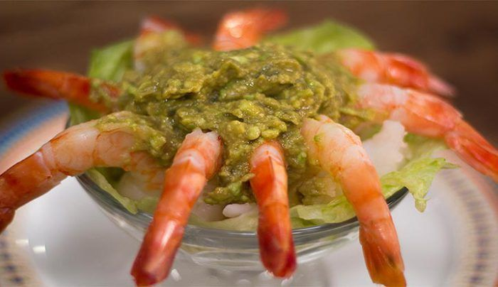 Prawns Cocktail with Avocado Cocktail Sauce - Good Chef Bad Chef