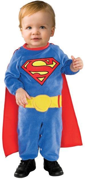 infant superman romper boy halloween