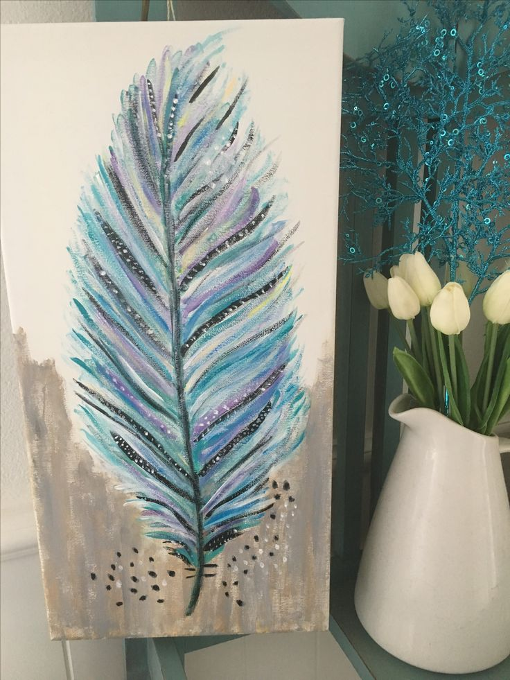 Hayley's feather painting