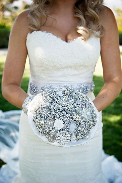 With a brooch bouquet, you won't have to worry about your flowers wilting.Photo Credit: William Innes Photography