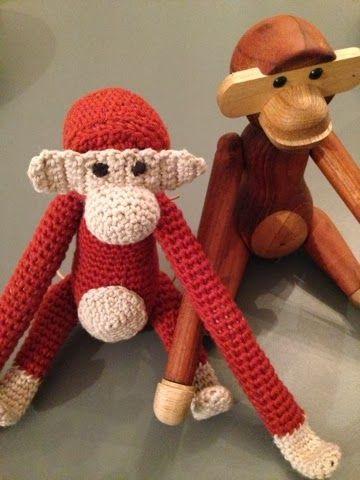 byoestergaard: Hæklet abe.... Den er da så fiiin!
