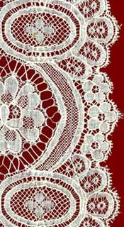 Mechanical Lace ... In the middle of the nineteenth century, the first looms for mechanical lacemaking began to appear. Since then, the style and materials used in producing these types of lace have become highly diversified. Often very fine, antique mechanical lace was produced by a complex weaving machine between 1850 and 1940. It is found almost exclusively in lace sold by the meter. The finest examples can sometimes be confused with certain types of handmade lace.