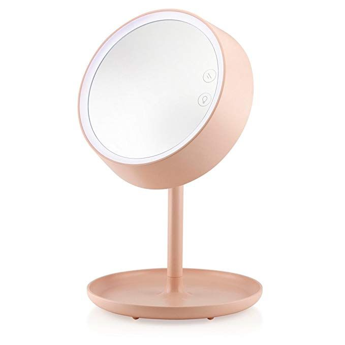Oct17 Makeup Mirror Lighted Lamp Led Vanity Travel Portable Cordless Rechargeable Battery Powered Round Natural Light Led Vanity Mirror With Lights Lamp Light