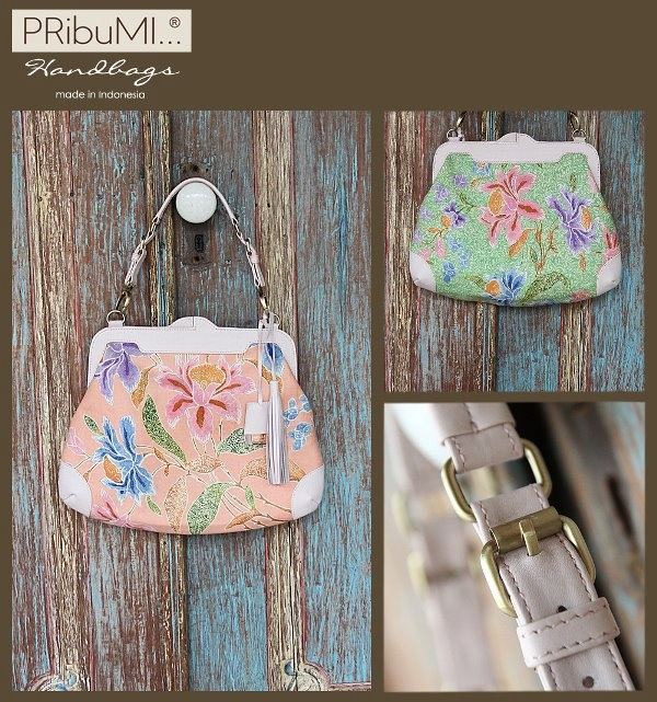 BANGKA Evening Bag / Sarung Encim Salem Hijau / Style Series / Serial # 0840951G / Misty Rose Italian Premium Genuine Cow Leather/ 2012
