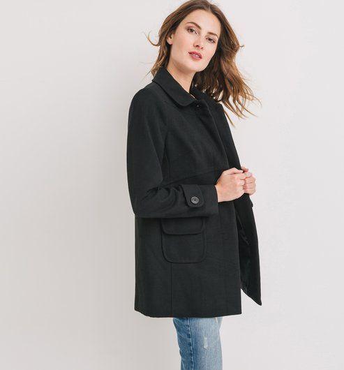 Manteau+en+feutre+Femme
