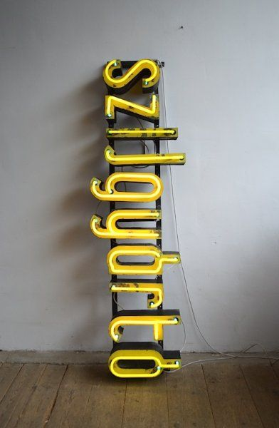 Old company inscription with neon | artKRAFT interior&design