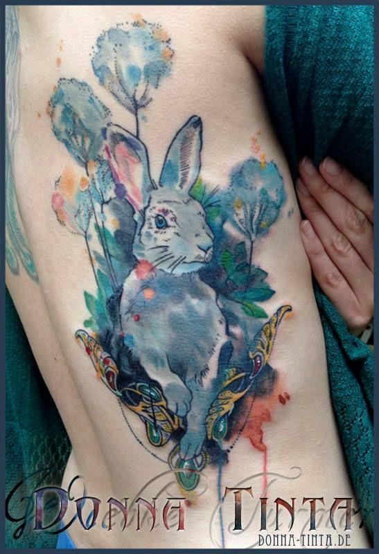Rabbit Tattoo by Donna Tinta - www.donna-tinta.com