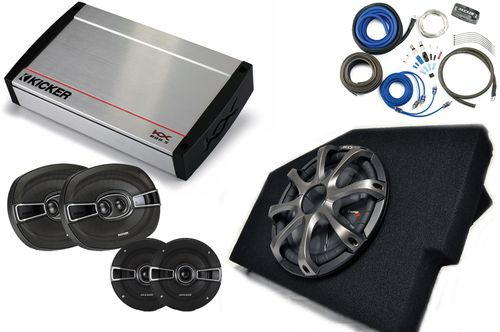 "Kicker for Dodge Ram Quad/Crew 02-15 - 10"""" CompRT w/ grille, KS 5.25"""" speakers, KS 6x9 Speakers, KX800.5 & Wiring Kit"