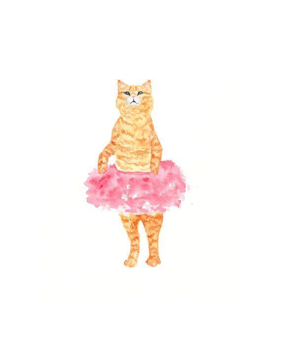 Cat art, watercolor cat painting, watercolor painting, cat illustration - 8X10 original painting via Etsy