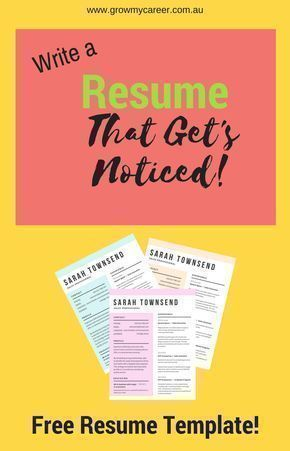 Free resume template. Get a job interview with this professional resume template. Write a resume that stands out!