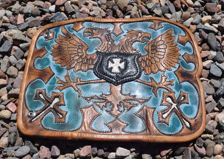 EDDIE BRAT LEATHER gothic  dual headed eagle  bespoke designed crafted  Art   eBay